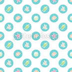 Marine patches Vector Ornament