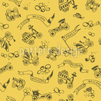 Golden Oldies Seamless Vector Pattern Design