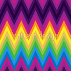 ZigZag Rainbow Seamless Vector Pattern Design