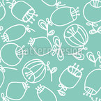 Scandinavian Ballflowers Seamless Pattern