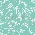 Skandinavische Ballblumen Nahtloses Muster
