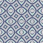 Geometrische Augen Rapportiertes Design