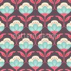 Königliche Blumen Muster Design