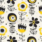 Sehende Blumen Nahtloses Vektormuster