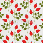 Colorful rose hip branches Repeating Pattern