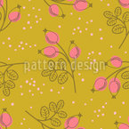 Stylish rose hip branches Pattern Design