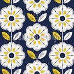 Scandinavian Sunflower Pattern Design