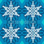 Snowflake Ikat Repeating Pattern