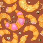 Gingerbread And Croissant Pattern Design