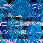 Tropische Achtziger Mit Streifen Designmuster