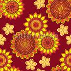 Sommer in Orange Nahtloses Vektormuster