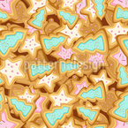 Christmas trees cookies Seamless Vector Pattern Design