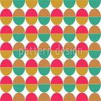 Ergänzende Eier Nahtloses Vektor Muster