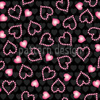 Pearl Hearts Repeating Pattern