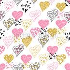 Celebración del amor Estampado Vectorial Sin Costura