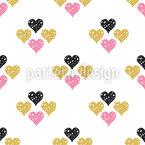 Geometria do Amor Design de padrão vetorial sem costura