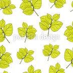 Hortensien Blatt Nahtloses Vektor Muster
