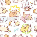 Rabbit Love Vector Pattern