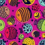 Süße Unterwasserwelt Nahtloses Vektormuster