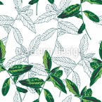 Leaves of basil Seamless Vector Pattern Design