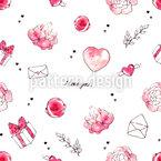 Liebespost Nahtloses Vektor Muster