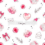 Love mail Seamless Vector Pattern Design