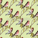 Singvögel im Frühling Rapportiertes Design