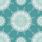 Embellished Snowflake Vector Pattern