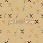 Resis Mural Painting Seamless Vector Pattern Design