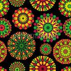 Buntes Mandala Nahtloses Vektormuster