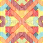 Komplexes Ikat Muster Design