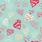 Hearts in the heart Repeating Pattern