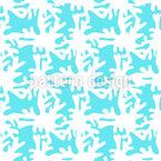 Weißen Korallen Muster Design
