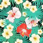 Tropischer Blumenstrauß Designmuster