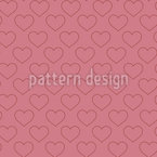 Simple Hearts Seamless Vector Pattern Design