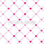 Heart lattice Vector Pattern
