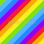 Diagonal Rainbow Stripes Seamless Vector Pattern Design