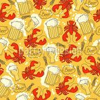 Octoberfest with crabs Pattern Design