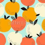 Orangenernte Nahtloses Vektormuster