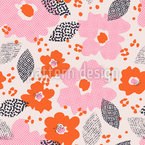 Technodot blossom Pattern Design