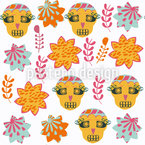 シュガースカル星 シームレスなベクトルパターン設計