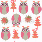 Owl wood Vector Pattern