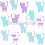 Cat silhouette Pattern Design