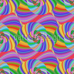 Fraktale Regenbogen Spirale Nahtloses Vektormuster