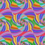 Trippy Rainbow Spiral Seamless Vector Pattern Design