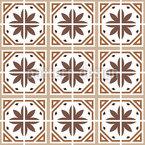 Klassische Blumenfliese Vektor Muster