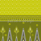 Saree In Spring Seamless Vector Pattern Design