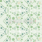 Stylized Circuit Board Pattern Design