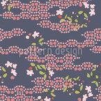 Sakura Primavera Estampado Vectorial Sin Costura