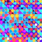 Departure Of The Circles Seamless Vector Pattern